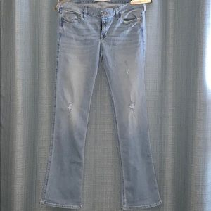 Hollister light denim boot cut jeans